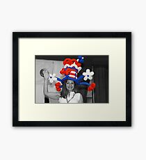 ❀◕‿◕❀ HELLO...YES I STAND FOR THE RED WHITE AND BLUE ❀◕‿◕❀ Framed Print