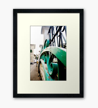 Fence View Framed Print