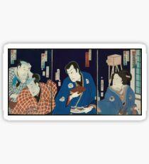 Kabuki scene of early photography 001 Sticker