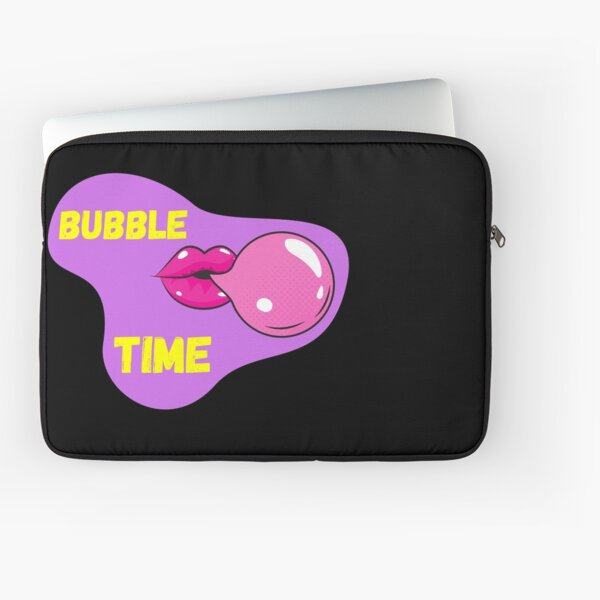 Bubble gum+ Glossy Lips Time (purple blob) Laptop Sleeve