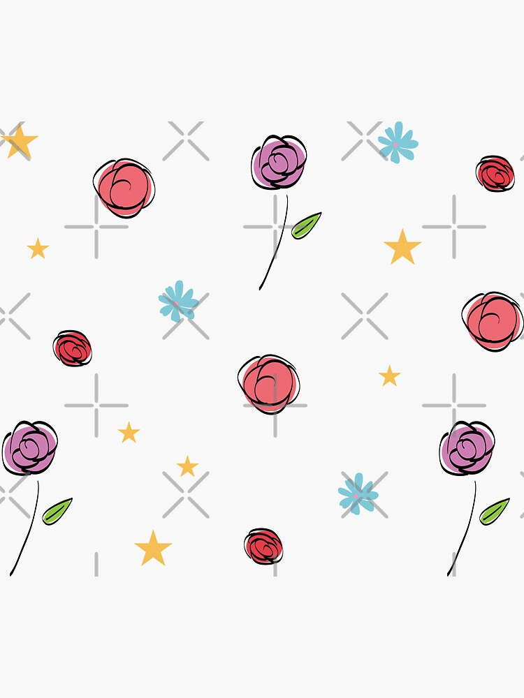 Pastel Colored Rose Pattern by chanzds