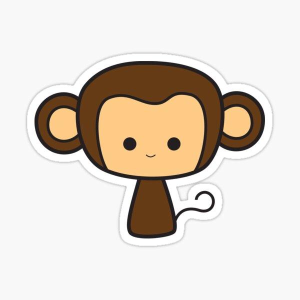 Happy Monkey Sticker
