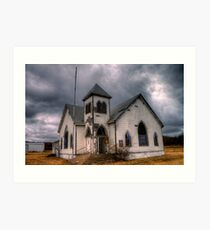 First Methodist Church, Jermyn, Texas Art Print