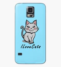 I Love Cats Case/Skin for Samsung Galaxy