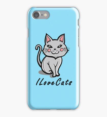 I Love Cats iPhone Case/Skin