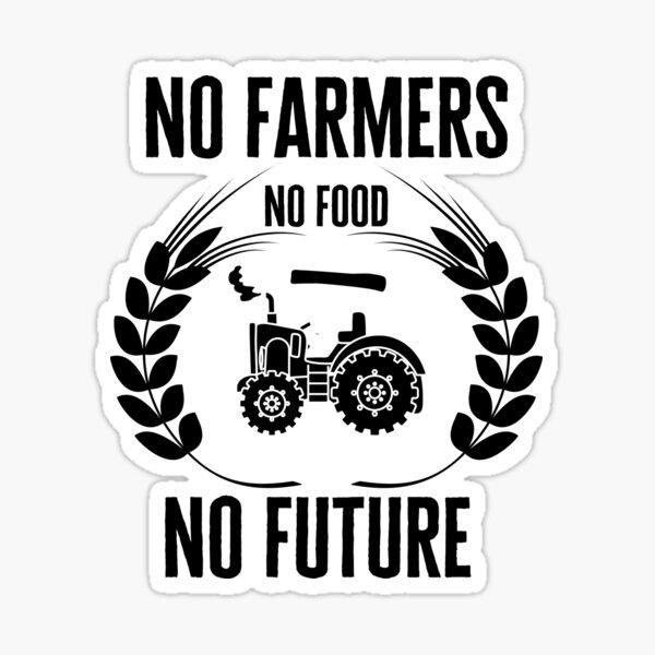 No Farmers No Food Sticker By Fokoloko Redbubble