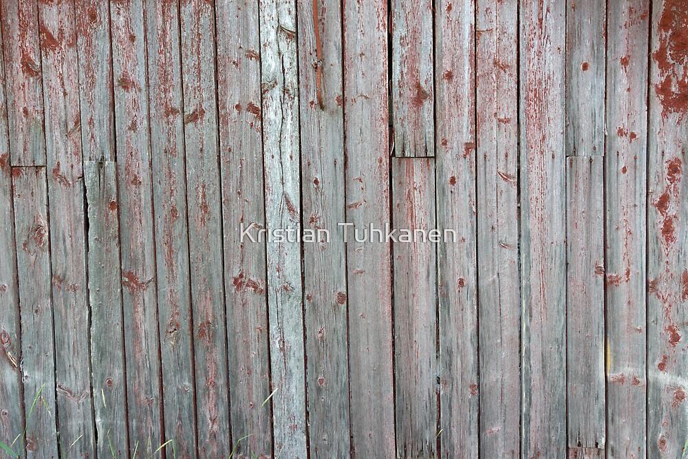 Old barn wall by Kristian Tuhkanen