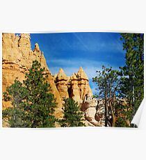 Spectacular rock towers, Bryce Poster