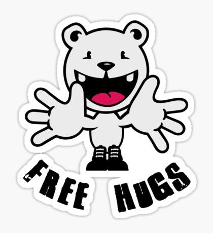 Polar Bear: Free hugs VRS2 Sticker