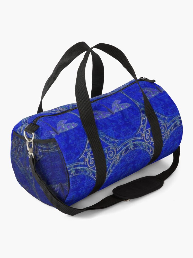 Alternate view of Victorian Dragonfly in Blue Duffle Bag