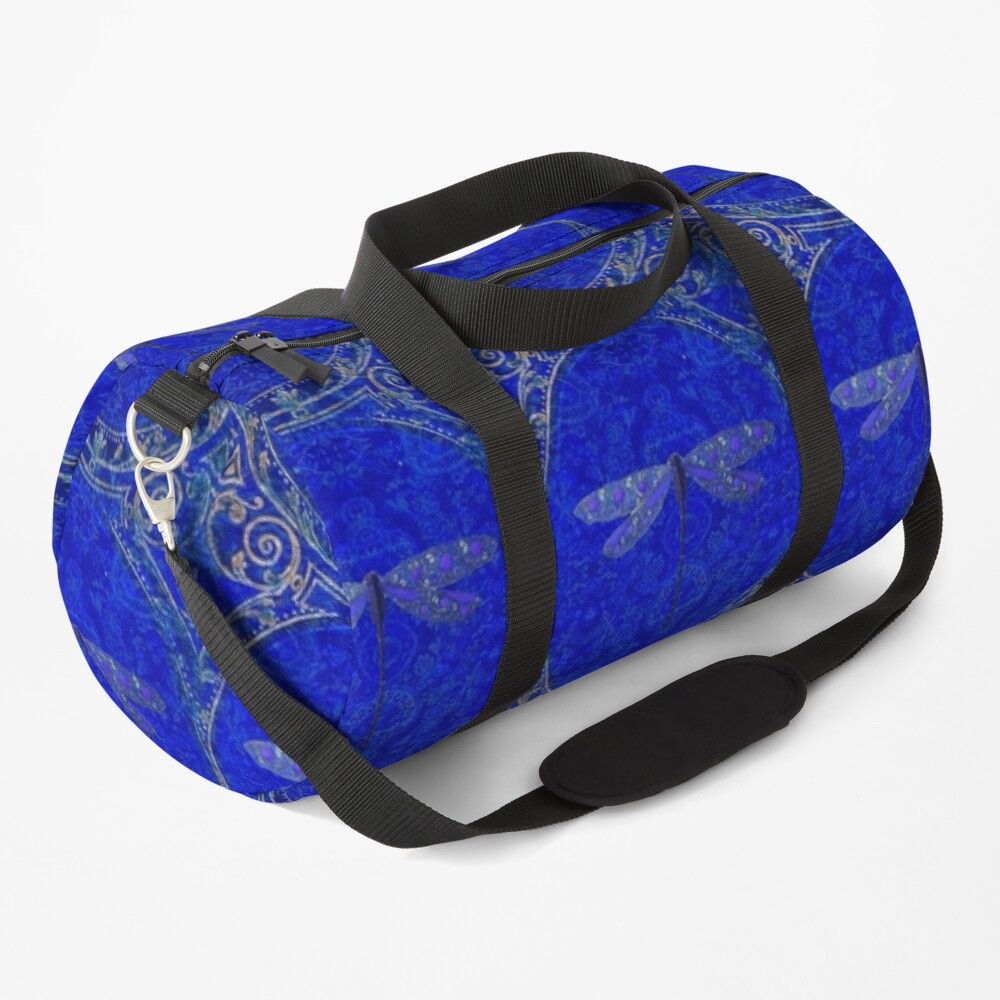 Victorian Dragonfly in Blue Duffle Bag