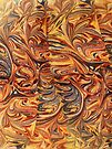 marbled paper - carnival splash by dennis william gaylor