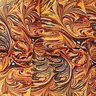 marbled paper - carnival splash by dennis william gaylor