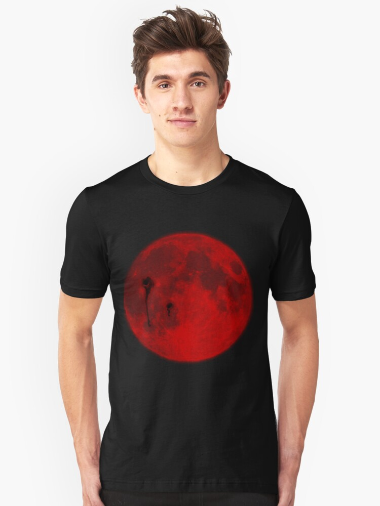 Red Moon-Twilight Unisex T-Shirt Front