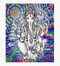 Trippy Ganesh Photographic Print
