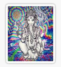 Trippy Ganesh Sticker