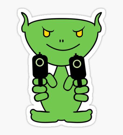 Alien Gunman VRS2 Sticker