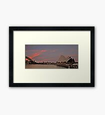 Sydney Icons at Sunset Framed Print