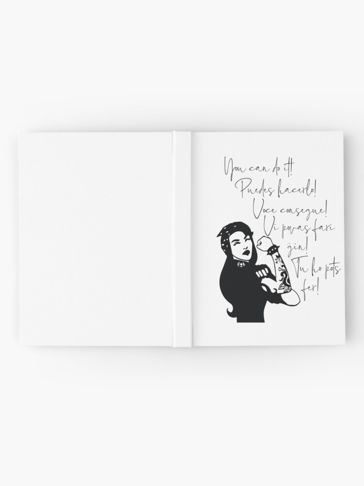 Alternate view of You can do It Central American languages | Quote Spanish, Portuguese, Catalan, Esperanto | Hispanic Woman  Latin Pride Print Hardcover Journal