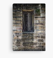 What's Behind the Door Behind the Window? Canvas Print