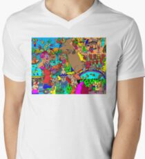 Rabbits on Vacation Men's V-Neck T-Shirt