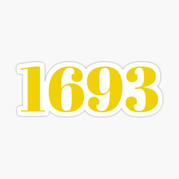 1693 William & Mary Sticker