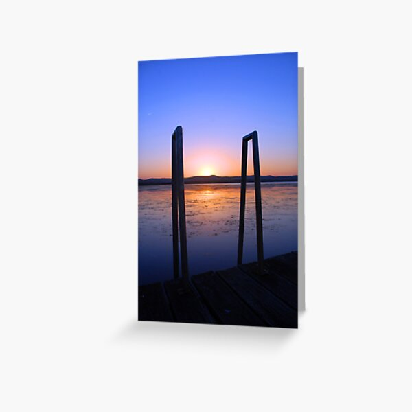 Up the ladder at sundown. Greeting Card