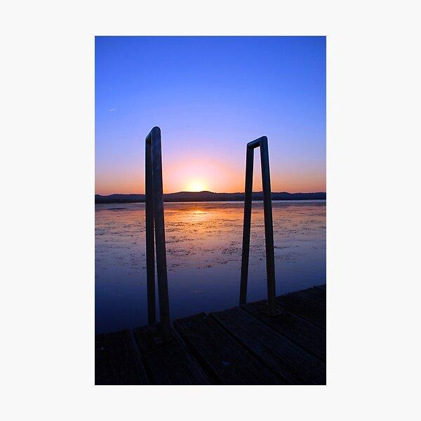 Up the ladder at sundown. Photographic Print