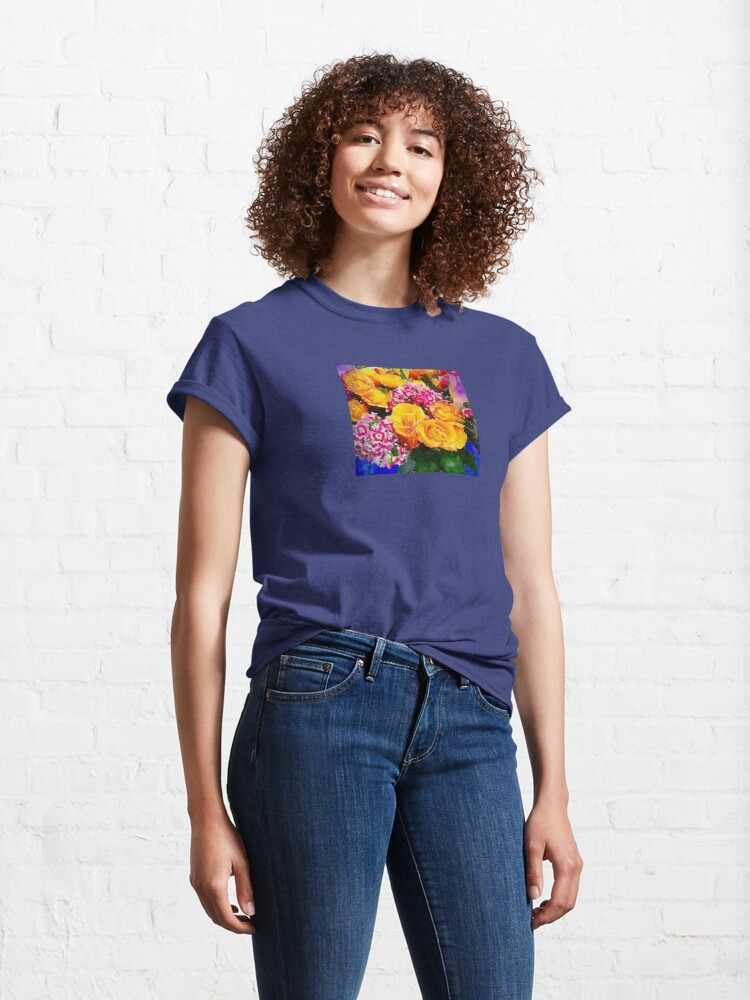 Alternate view of Watercolor Bouquet Classic T-Shirt