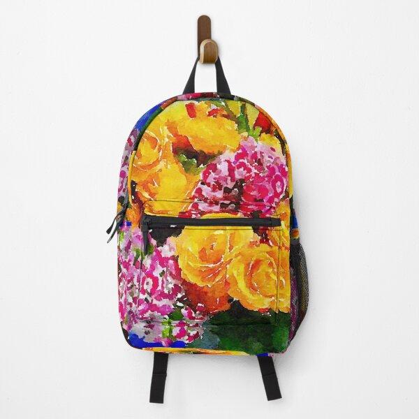 Watercolor Bouquet Backpack