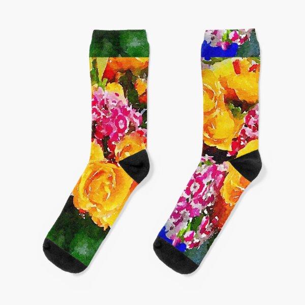 Watercolor Bouquet Socks