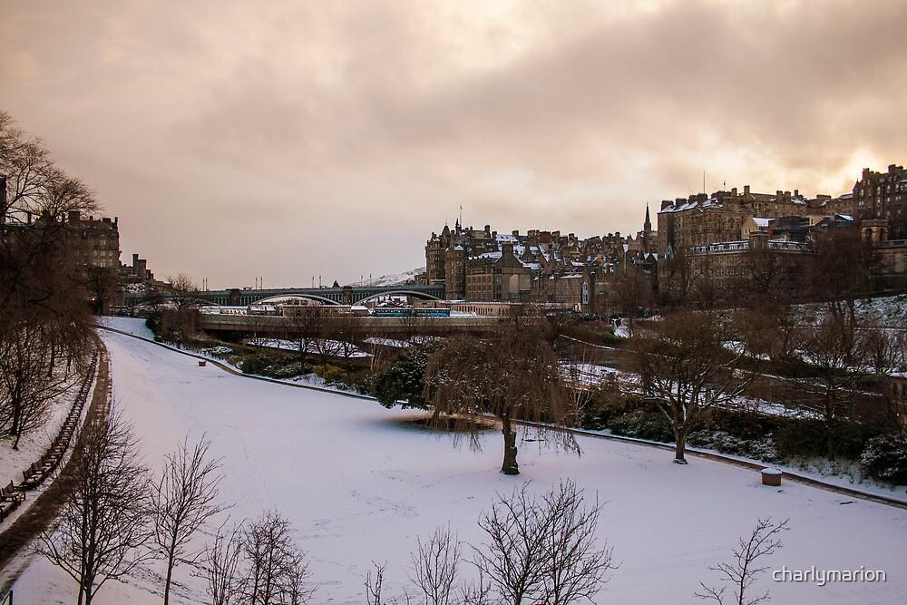 Edinburgh in Winter  by charlymarion