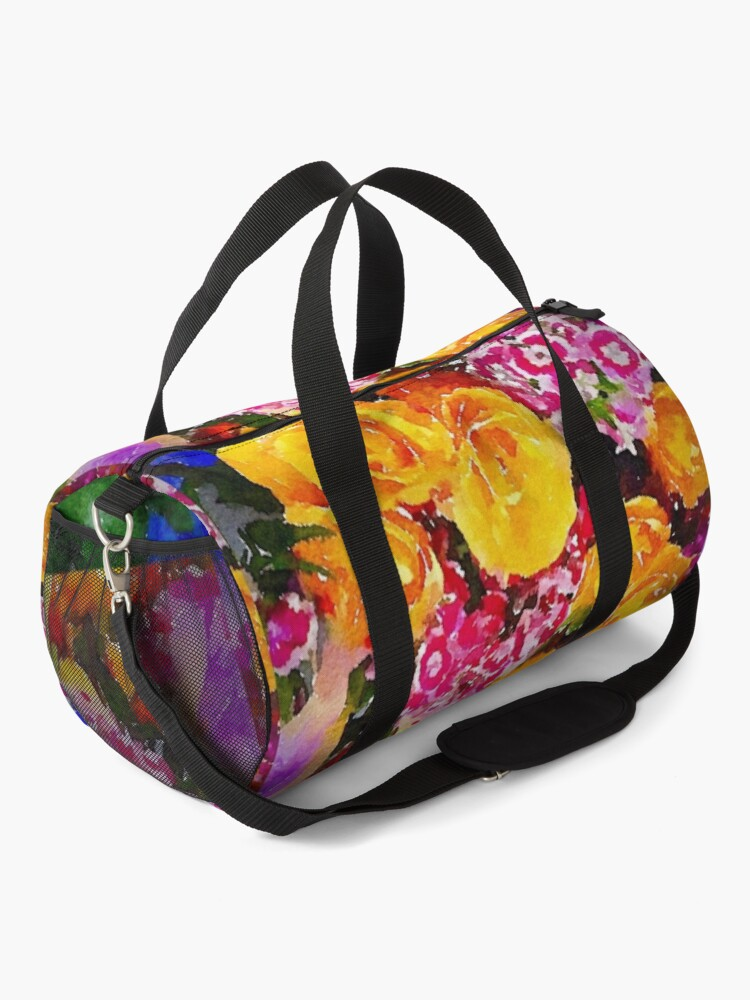 Alternate view of Watercolor Bouquet Duffle Bag