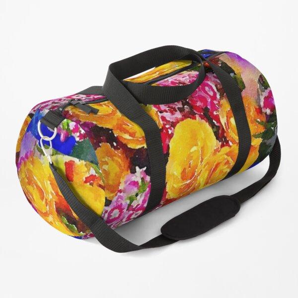 Watercolor Bouquet Duffle Bag