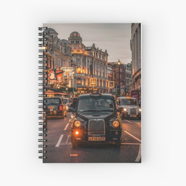 Streets of Picadilly (London, U.K.) Spiral Notebook