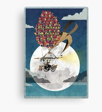 Flying Bicycle Canvas Print