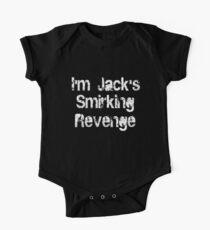 I'm Jack's Smirking Revenge White Lettering One Piece - Short Sleeve
