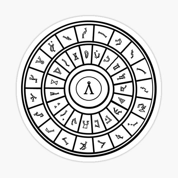 Stargate: Anneau de numérotation Sticker