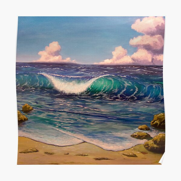 Wave at the Beach Poster