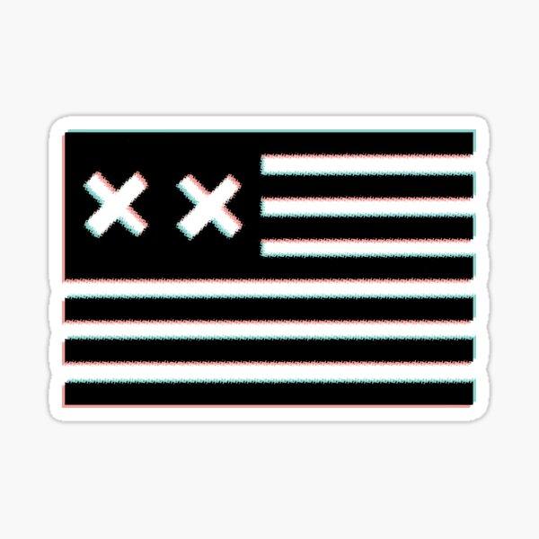 3d grandson double x flag Sticker