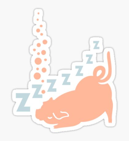 Snoring Pig VRS2 Sticker