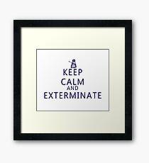 Keep Calm and Exterminate Dalek Framed Print