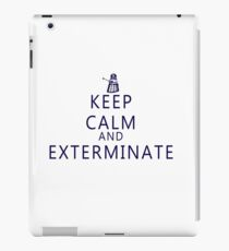 Keep Calm and Exterminate Dalek iPad Case/Skin