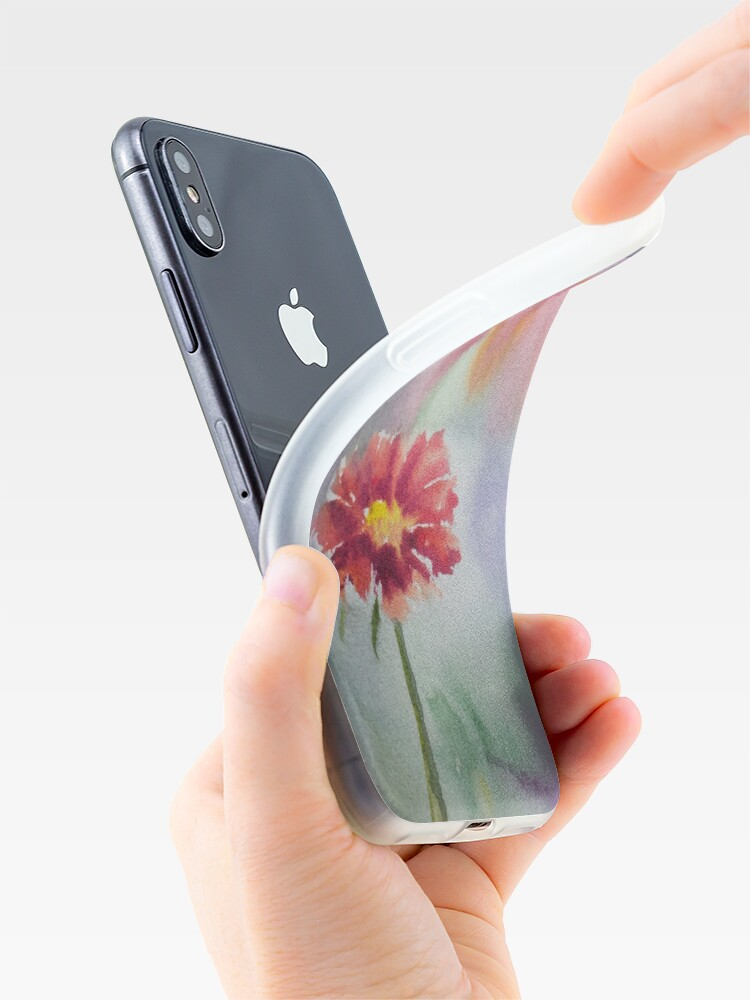 Alternate view of Red Flower iPhone Case & Cover