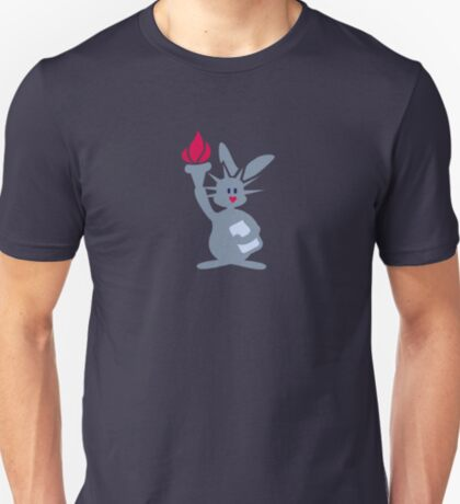 Miss Liberty Bunny VRS2 T-Shirt