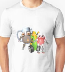 BurgerBot,Corn bot and beerbot by Valxart.com Unisex T-Shirt
