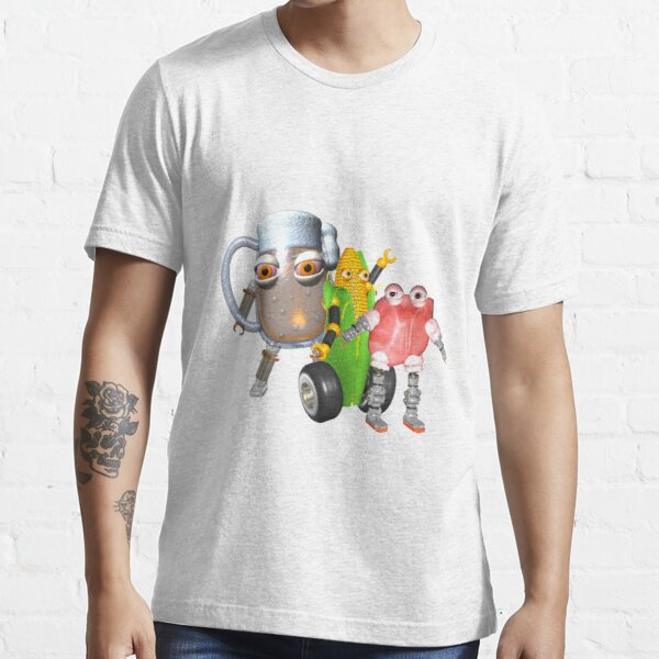 BurgerBot,Corn bot and beerbot by Valxart.com Essential T-Shirt