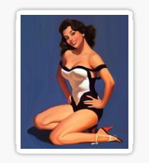 Vintage Pin up Girl - 1950 Sticker