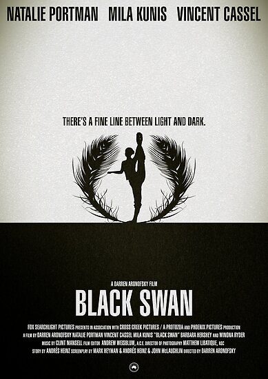 "Movie Poster - ""BLACK SWAN"" by Mark Hyland"