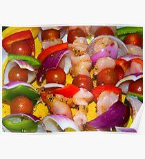 Chicken Kebabs Poster